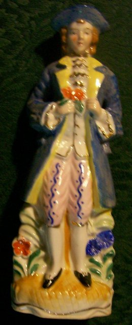 Colonial Gentleman Ceramic Figurine Japan 1930s-40s 7.5