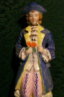 Colonial Gentleman Ceramic Figurine Japan 1930s-40s 7.5