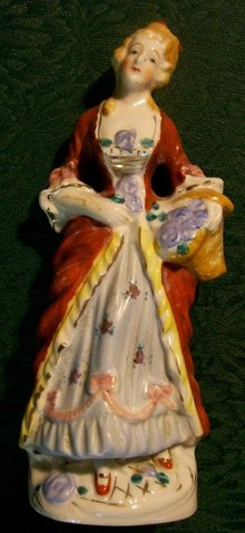 MIJ Figurine:  Colonial Lady with Basket