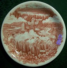 Johnson Brothers Souvenir Plate: Vancouver, Canada
