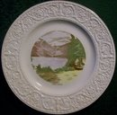 Crown Devon Souvenir Plate: Lake Louise Canada