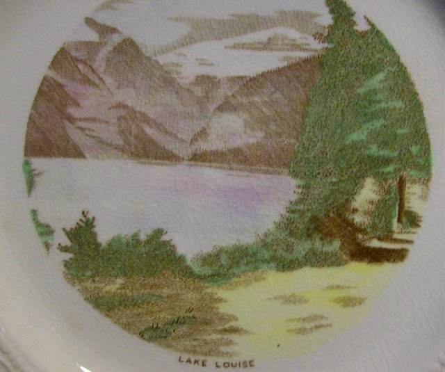 Lake Louise Canada Ceramic Souvenir Plate Crown Devon 1930s-50s 10