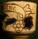 Gold Encrusted German Porcelain Mug Inscribed