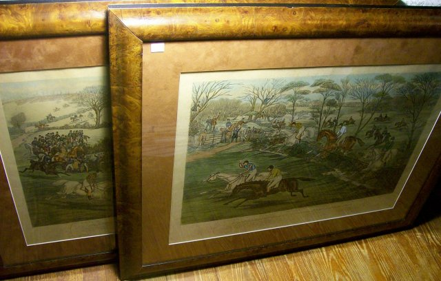 Framed Prints: Northampton Grand National Steeple Chase 1840