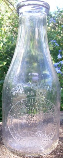 Longwood Guernsey Herd Dairy Bottle