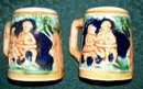 Keansburg New Jersey Souvenir Salt & Pepper Ceramic Shakers Beer Steins 2 5/8