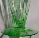 Tiffin Stemware #14196: Green Paneled Optic Iced Tea