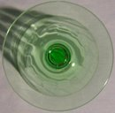 Tiffin Stemware #14196: Green Paneled Optic Water Goblet