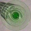 Tiffin Glass Stemware #14196 Green Paneled Optic Water Goblet 6.5
