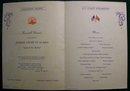 Canadian Pacific Cruise Line Princess Kathleen Ship Menu 1949 Alaska