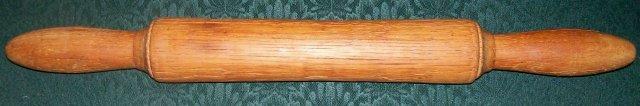 Hand-turned Oak Rolling Pin:  1800's