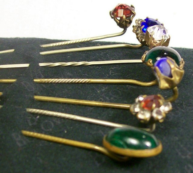 Victorian Scarf/Stick Pin Set of Seven Ca. 1900 Assorted
