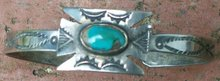 Native American Indian Turquoise & Silver Bracelet