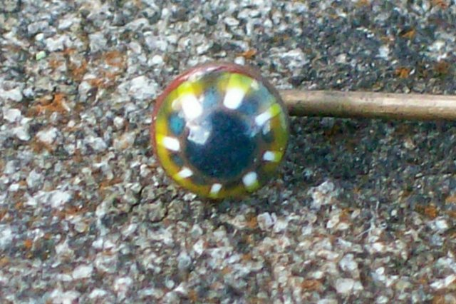 Late 1800's Scarf/Stick Pin with  Venetian Glass Bead
