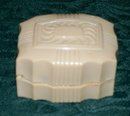 Art Deco Celluloid Plastic Ring Box Hinged Lid Jamaica New York 1920's-30's