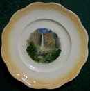 Wellsville China Souvenir Plate: Rainbow Falls/ Yosemite Valley