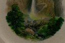 Rainbow Falls/ Yosemite Valley Souvenir Ceramic Plate Wellsville 8.25