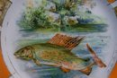 Victoria Czechoslovakia Ceramic Fish Plate 8 5/8