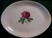China Platter with Rose Center