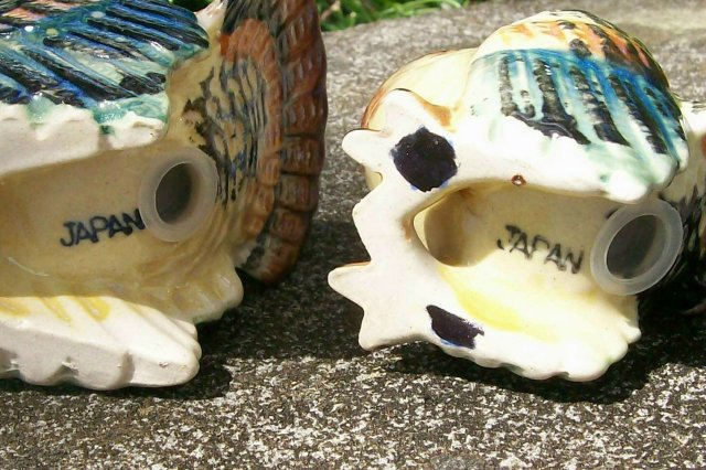 Turkey Figural Ceramic Salt & Pepper Shakers Japan 1930's-50's 3.5