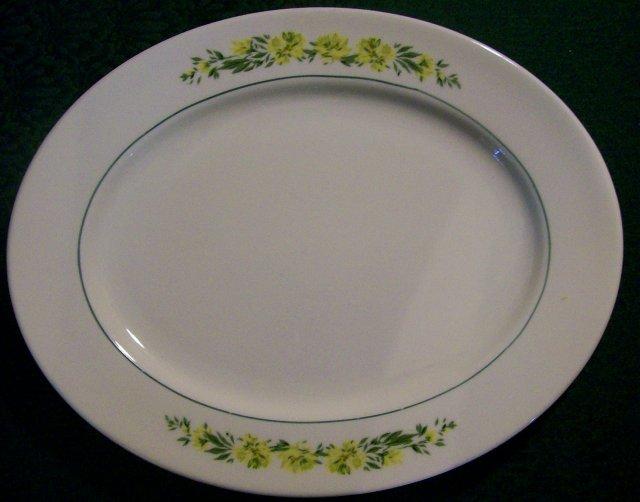 Floral Garland Platter: Yellow Flowers