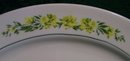 Floral Garland Platter: Yellow Flowers