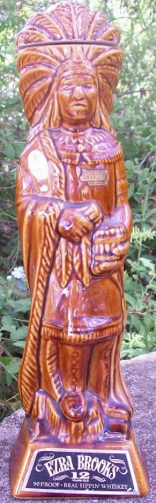 Ezra Brooks 1968 Cigar Store Indian Decanter