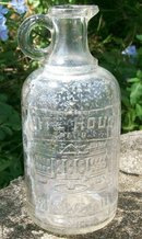 White House Vinegar Embossed Bottle Early 1900's Pint