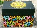Ohio Art Metal File Box Mod 60's w/ Sunflower