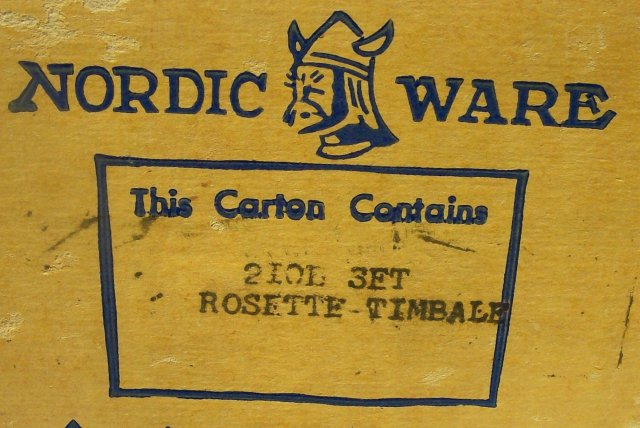 Nordic Ware Rosette/Timbale Set #210 w/Box & Recipe Book 1950's-60's