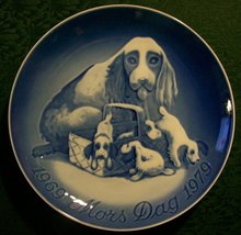 Mother's Day Plate with Cocker Spaniels