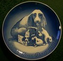 Bing & Grondahl Denmark Mars Dag/ Mother's Day Plate Cocker Spaniels 1969-79 #9879