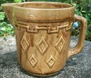 Monmouth/Western Stoneware Pitcher with Diamond Pattern