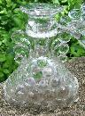 Westmoreland Glass Thousand Eye 3-Piece Console Set #1000 Clear 1934-56