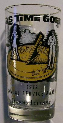 Owens-Illinois Glass Service Award Tumbler 1972