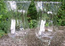 Blown Glass Hurricane Shade Pair