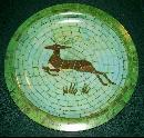 Waverly Products Mosaic Deer Melamine Plastic Tray 13