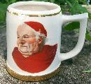Ceramic Beer Mug with Cardinal/Monk Decal #2