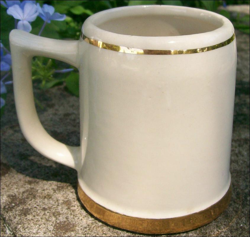 Ceramic Beer Mug with Cardinal/Monk Decal #2