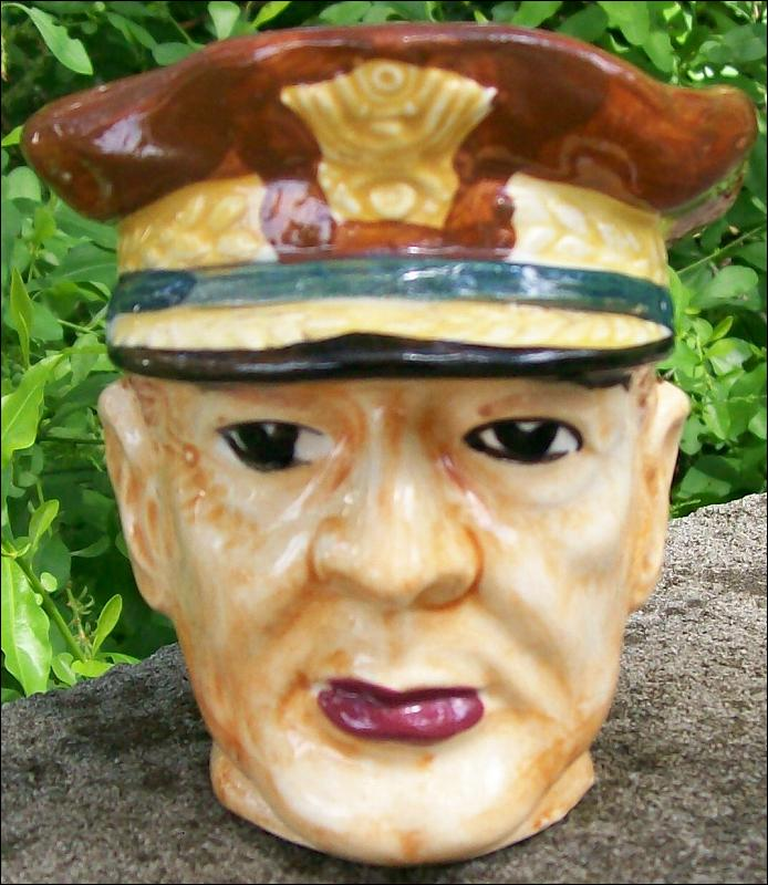 General MacArthur Ceramic Toby Mug: Occupied Japan 1945-52 -