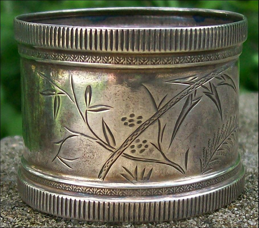 Sterling Silver Napkin Ring: Aesthetic Ca. 1880's