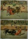 Bullfight Chromolithograph Print Set of 12  J. Arias
