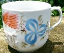 German Porcelain Mug Embossed