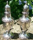 Rogers Sterling Salt & Pepper Shakers: Late 1800's