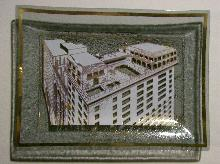 Bent Glass Advertising Tray Monteleone Hotel New Orleans 5