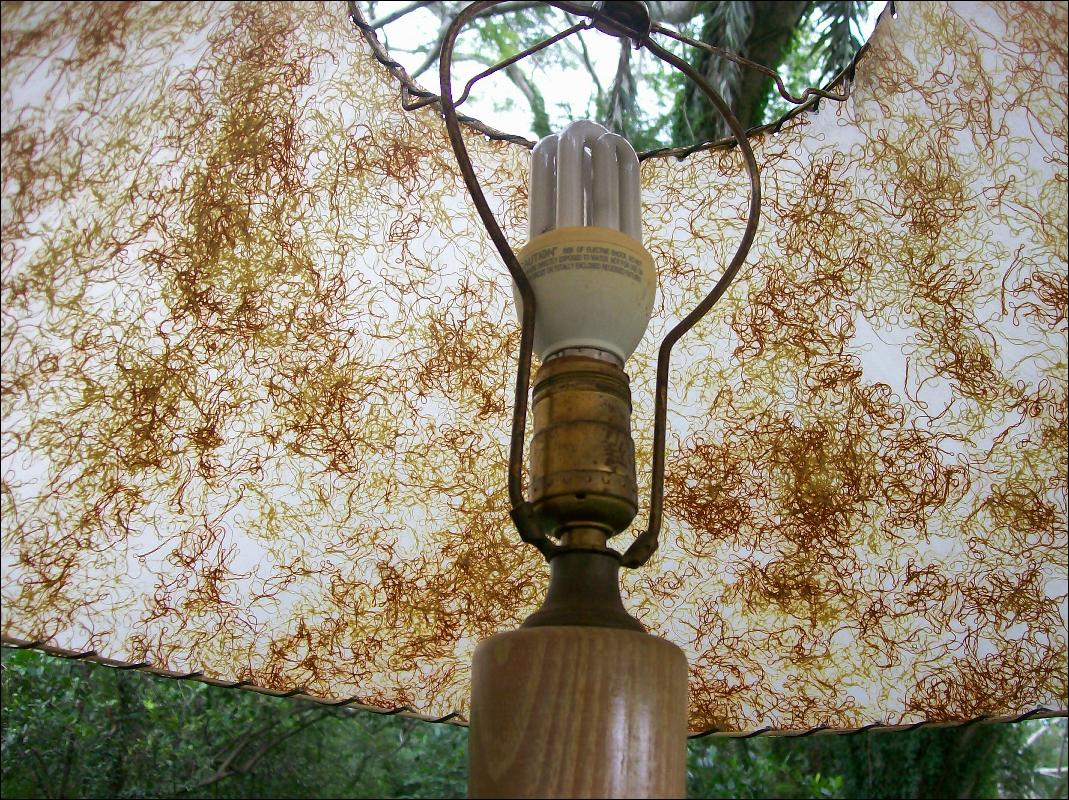 '50's Floor Lamp with Fiberglas Shade