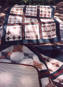 Primitive Handsewn Quilt- Late 1800's