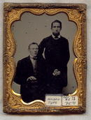 Ambrotype Photo of Two Men: 1/4 Plate