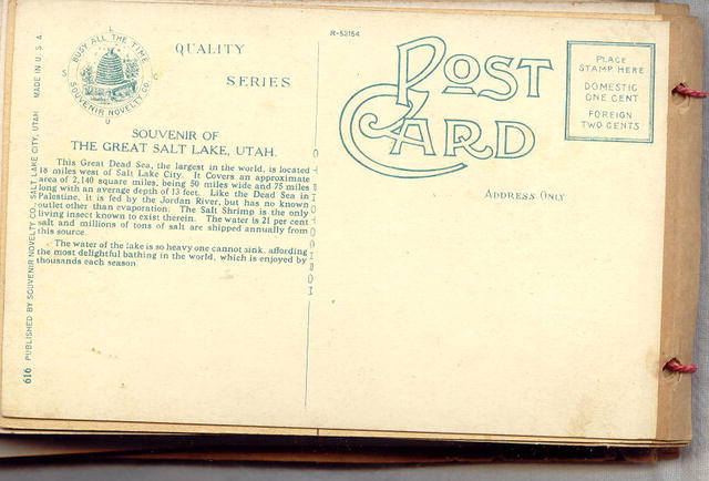 Postcard Booklet Salt Lake City Utah Early 1900's 53 Cards