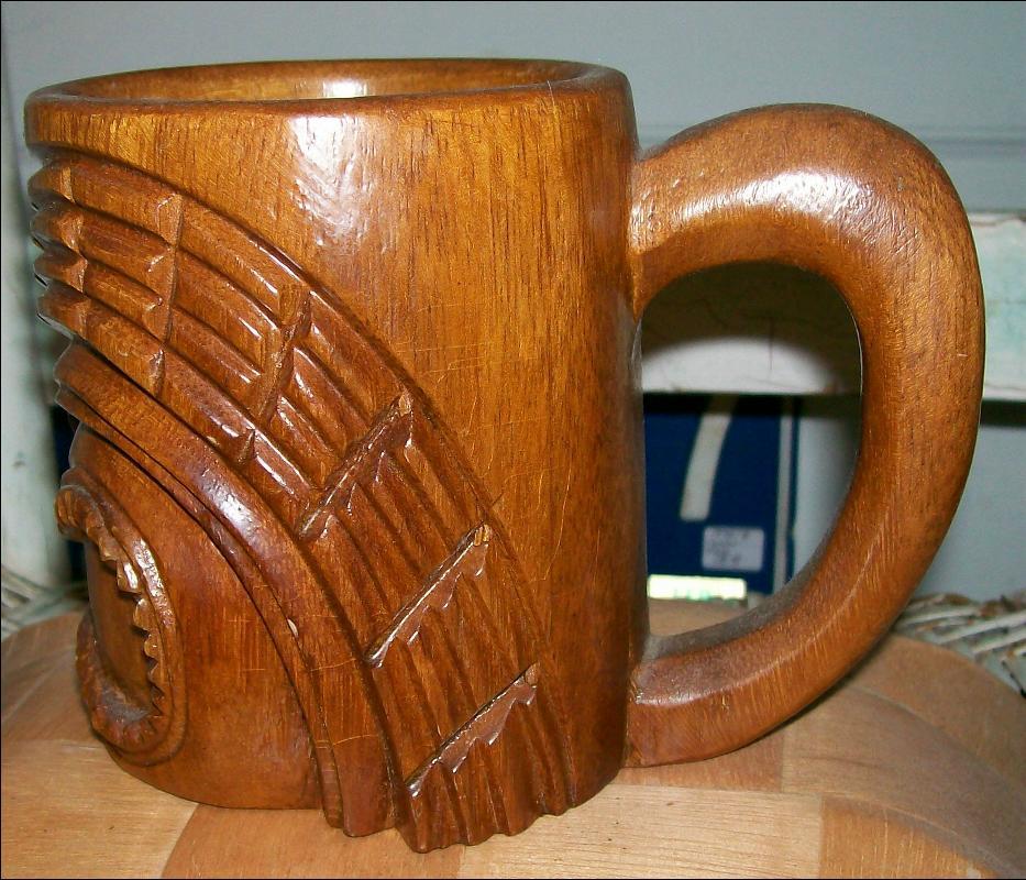 Philippine Tiki Mug: Hand-carved Wood